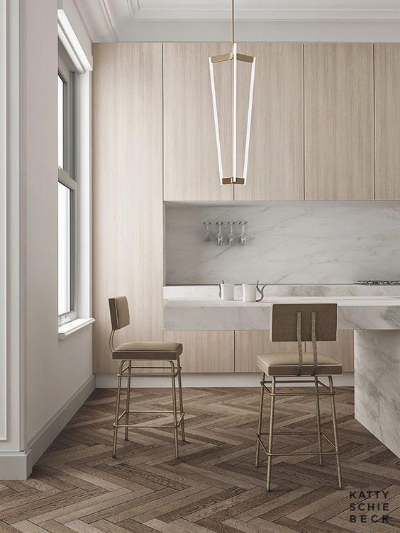 interieur-interior-kitchen-keuken-visgraat parket-white carrara marble worksheet-carrara marmer werkblad