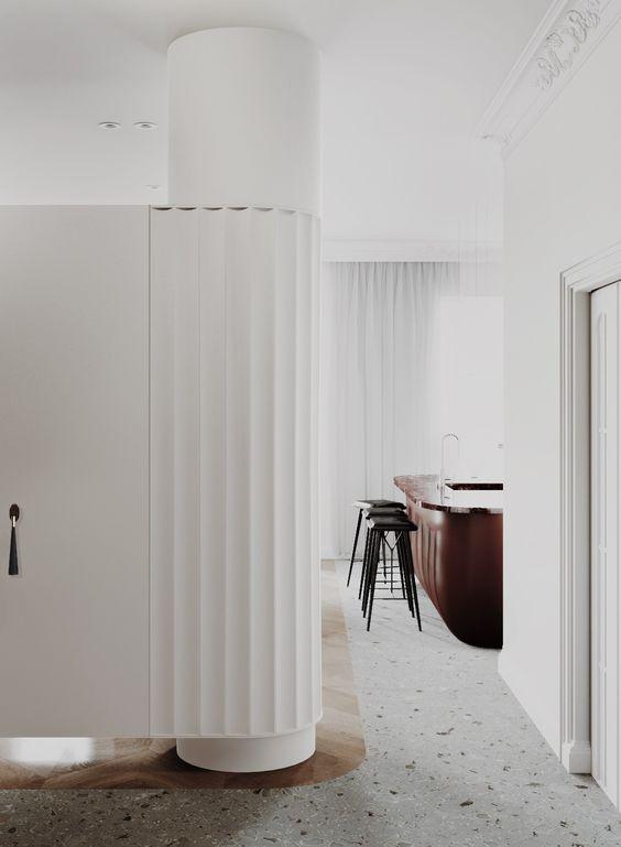 interieur-interior-terrazo vloer-geslepen beton-visgraat parket-
