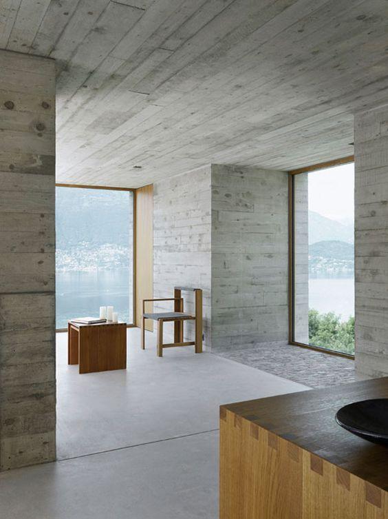 interieur-latjesbeton-concrete-beton-gepolierde beton-hout-wood-minimal-minimalistisch-sober-uitzicht-view