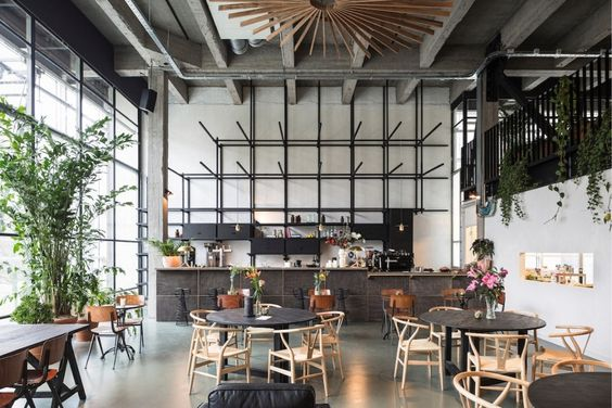 office-kantoor-restaurant-bar-beton-concrete-industrieel-industrial-wood-hout