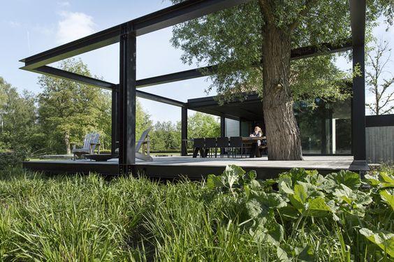 tuin-garden-natuur-terras staal-zwevend terras