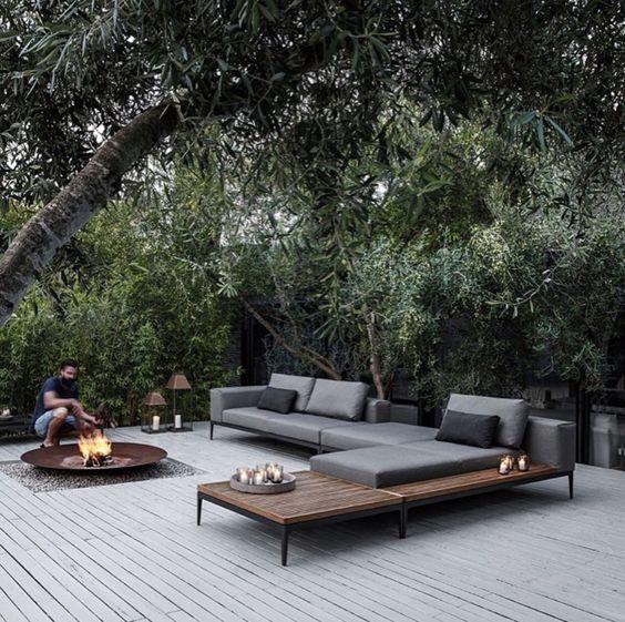 tuin-garden-terras hout-terrace wood-vuurschaal